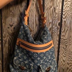 LOUIS VUITTON Baggy GM M95048 denim shoulder bag